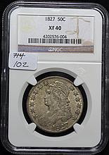 1827 Capped Bust Half Dollar XF-40 NGC