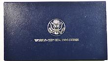 1994 Proof 2 pc 1994 World Cup Soccer Silver Com