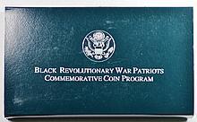 1998 Uncirculated Black Patriots Silver Commem