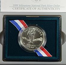 1999 Unc Yellowstone Silver Commem