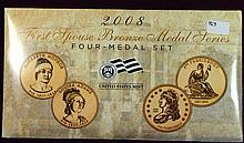 2008 4 pc First Spouse Bronze Medal Series