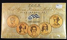2009 4 pc First Spouse Bronze Medal Series