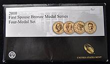 2010 4 pc First Spouse Bronze Medal Series