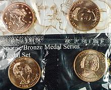 2011 4 pc First Spouse Bronze Medal Series