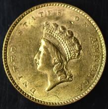 1854 Type 2 $1.00 Gold Piece