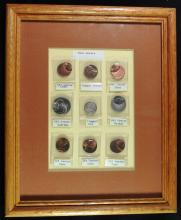 Set of 9 Framed Error Coins