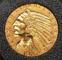 1910-D $5.00 Gold Indian Half Eagle