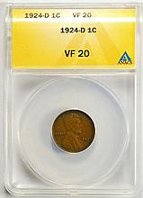 1924-D Lincoln Cent VF-20 ANACS