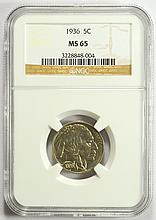 1936 Buffalo Nickel MS-65 NGC