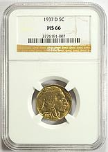 1937-D Buffalo Nickel MS-66 NGC