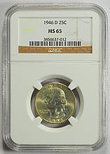 1946-D Washington Quarter MS-65 NGC
