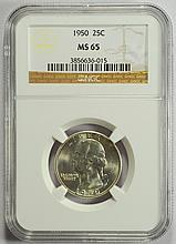 1950 Washington Quarter MS-65 NGC