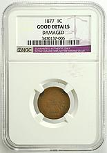 1877 Indian Head Cent NGC