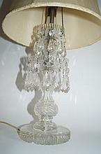 Victorian Pressed and Cut Crystal Lamp