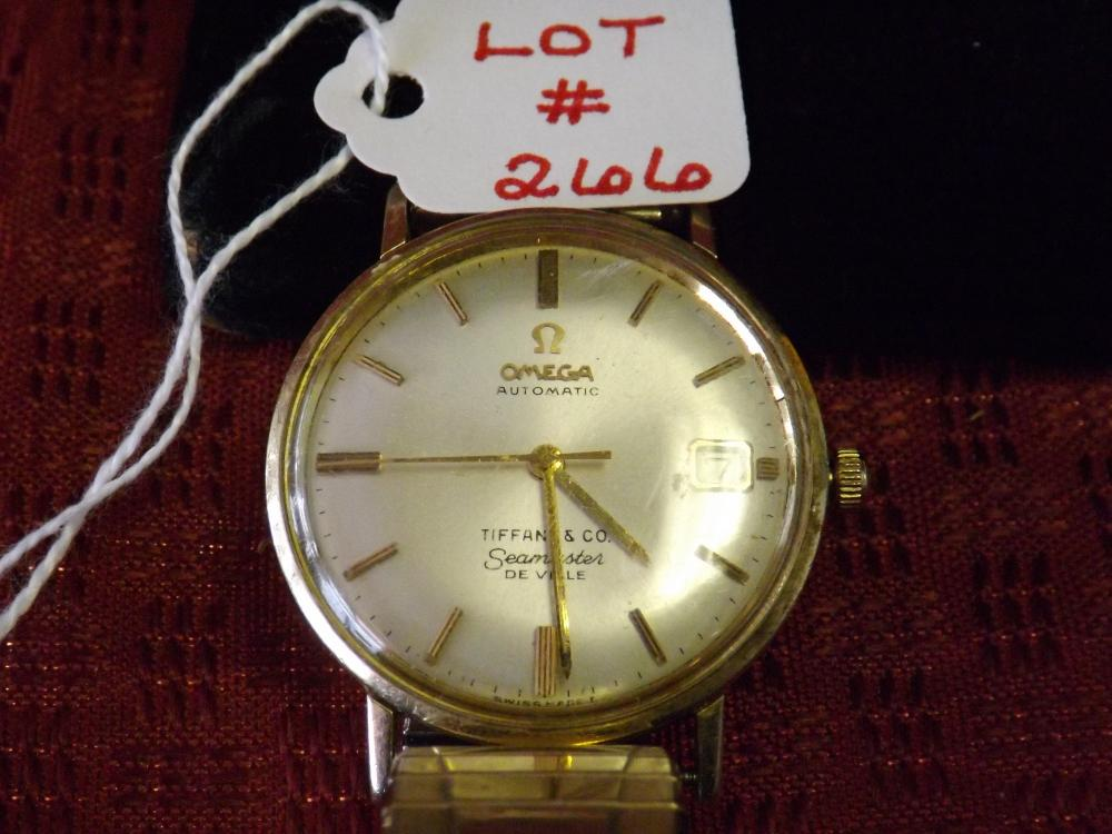 Tiffany & Co./Omega DeVille 14k Automatic Seamaster Men's Wristwatch