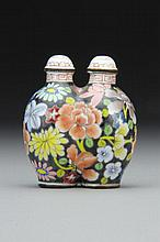 Chinese Enamel Famille Noir Double Snuff Bottle