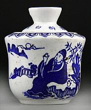(15) Chinese Blue and White Porcelain Covered Jars