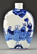 Chinese Blue & White Porcelain Flask