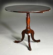 Queen Anne Mahogany Tilt-Top Table