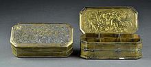 (2) Sri-Lanka, Indo-Persian Brass Boxes