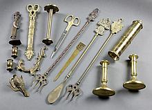 (15) Assorted Brass Articles