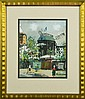 Bears Signature Maurice Utrillo Gouache & Watercolor