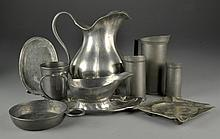 (9) Pcs Continental Pewter Table Wares