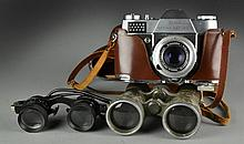 (3) Assorted Binoculars &  Kodak Retina Camera
