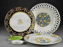 (5) Pieces German and Hungarian Porcelain