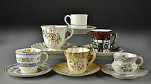 (6) English Porcelain Demitasse Cups