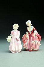 (2) Pcs Royal Doulton Porcelain Figurines