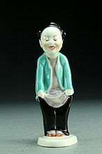 A Royal Worcester Chinoiserie Children Porcelain Figure