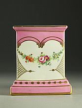 A Continental Gilt and Hand Painted Porcelain Lamp Base