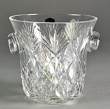 A Saint Louis Crystal Ice Bucket