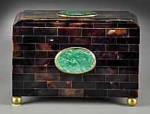 A Maitland Smilt Stone Inlaid Covered Box