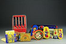 (11) Tin Litho Toys and Milton Bradley