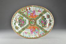 Chinese Export Porcelain Rose Medallion Serving Dish