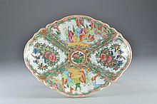 Chinese Export Porcelain Rose Medallion Footed Dish
