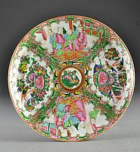 Chinese Export Porcelain Rose Medallion Plate