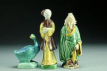 (3) Pcs Chinese Porcelain Figures