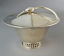 A Danish Mid-Century Silver Plate Covered Centerpiece