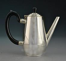 An Elkington & Co. Silver Plate and Ebony Teapot
