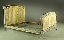 A 19th C. Italian Carved and Parcel Gilt Bedsted