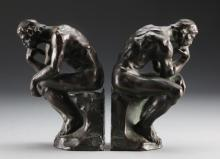 Pr. Pompeian Bronze Bookends Rodin's