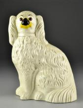 A Large Antique English Staffordshire Spaniel