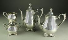 (4) Pcs. WM Rogers & Son Coffee and Tea Service