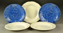 (5) Pcs English Majolica Plates