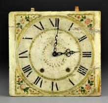 A Victorian Hand Painted and Raised Gilt Wood Clock