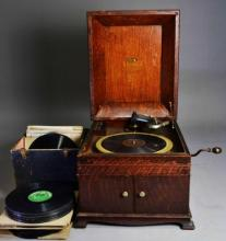 VICTROLA TALKING MACHINE & RECORDS