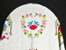 American Antique Cotton Applique Quilt